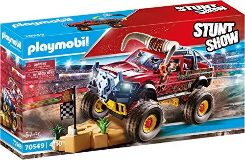 PLAYMOBIL Stuntshow 70549 Monster Truck Horned, Für Kinder von 4 - 10 Jahren