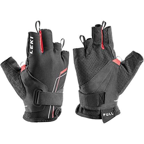 LEKI Nordic Breeze Shark Short Handschuhe, schwarz-rot-Weiss, EU 9