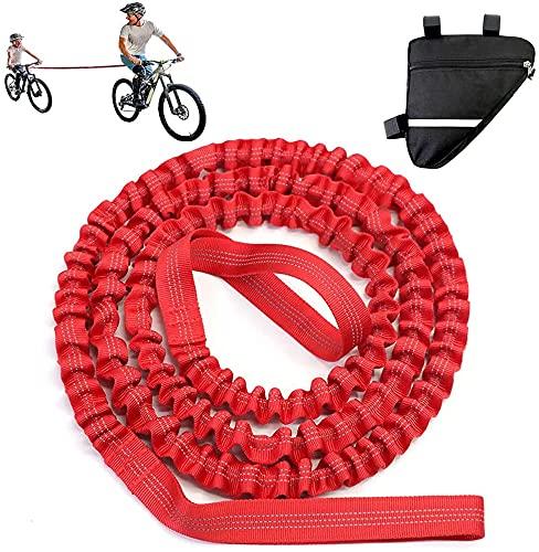 Kinder Abschleppseil, Fahrradgurt Elastisch mit Fahrrad Triangle Tasche, Fahrrad Bungee Abschleppseil für Reiten, Eltern Kinder Abschleppseil für jedes Fahrrad Bike
