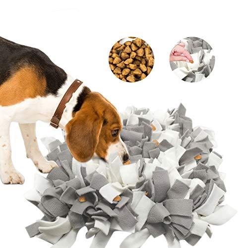 Aoweika Schnüffelteppich für Hund, Schnüffelmatte Hund Hundespielzeug Intelligenz, Maschinenwaschbar, Aktivitätsmatte für Futtersuche für Katzen und Hunde (45 x45 cm)