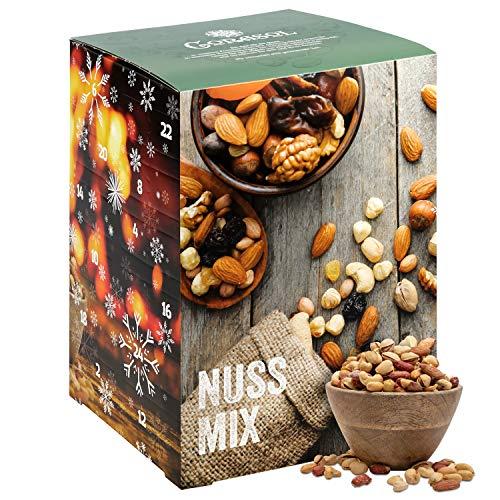 Corasol Premium Nuss-Mix Adventskalender 2020 XL mit 24 verschiedenen Nussmischungen zum knabbern & snacken (720 g)