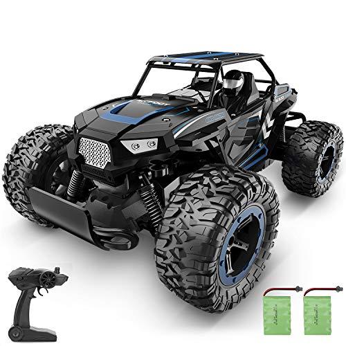 BEZGAR 18 Blau Ferngesteuertes Auto, 1:14 Rc Auto für Kinder Schnelles Rennauto Hobby-Auto 2,4Ghz Elektrischer Spielzeug-Buggy mit Zwei wiederaufladbaren Batterien für Kinder