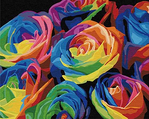 ZZZNEST Malen nach Zahlen für Erwachsene, Leinwand Ölgemälde Kit für Anfänger, DIY Zeichnen Malerei mit Pinsel für Home Wanddekoration, 40,6 x 50,8 cm, Acryl-Pigment