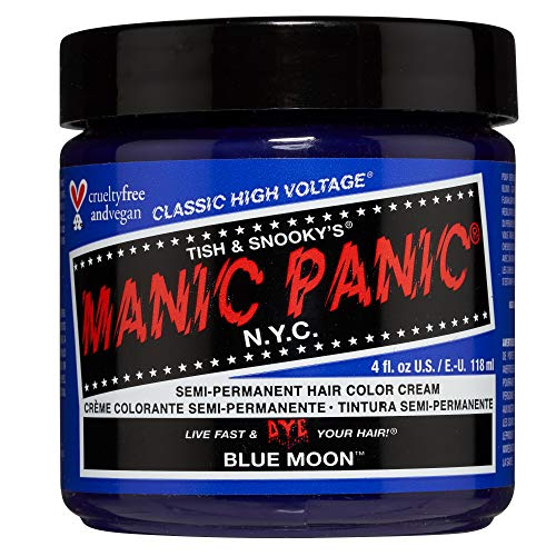 Manic Panic - Blue Moon Classic Creme Vegan Cruelty Free Blue Semi Permanent Hair Dye 118ml