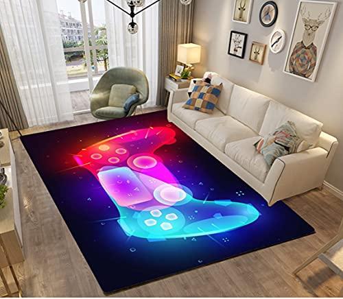 3D Galaxis Star Anime Gamer Muster Kinder Jungen Teppich Schlafzimmer Dekorativ Kinderzimmer Wohnzimmer,Matten Krabbelmatte Modern Weichem Flanell Kinderteppiche Waschbar (schwarz,120x160 cm)