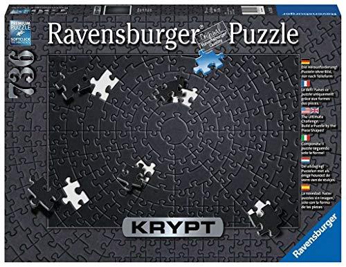 Ravensburger 15260 Krypt Puzzle, Schweres Puzzle für Erwachsene und Kinder ab 14 Jahren, Schwarz, 736 Teile