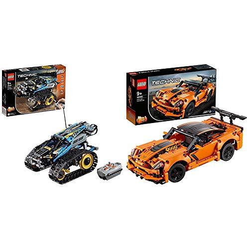 LEGO 42095 Technic Ferngesteuerter Stunt-Racer, bunt & 42093 Technic Chevrolet Corvette ZR1, bunt