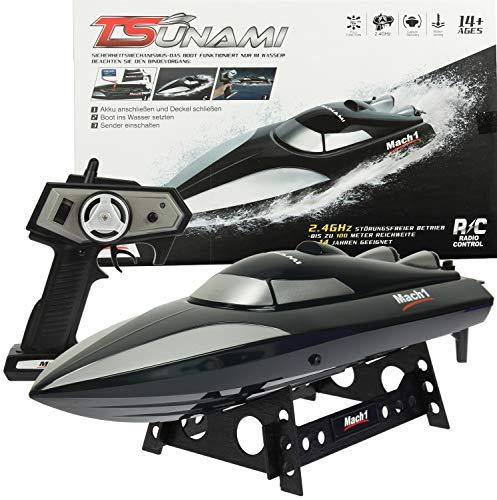Mach1 Ferngesteuertes Boot Tsunami inklusive Ladegerät und Akku - Farbe schwarz