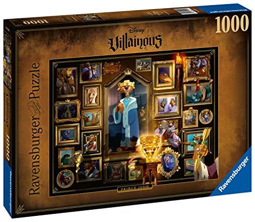 Ravensburger Puzzle 1000 Teile Disney Villainous, Prince John aus Robin Hood, Disney Puzzle für Erwachsene und Kinder ab 14 Jahren