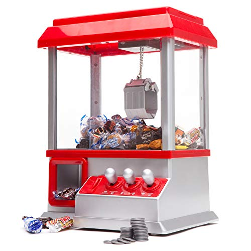 Monsterzeug Retro Candy Grabber, Personalisiert mit Wunschgravur, Süßigkeitenautomat mit Greifarm, Jahrmarkt-Atmosphäre für Zuhause
