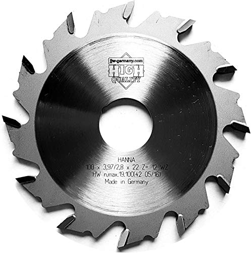 jjw-germany HM Nutfräser 100 x 3,97 x 22 Z= 12 WZ passend für Einhell Flachdübelfräse TC-BJ 900