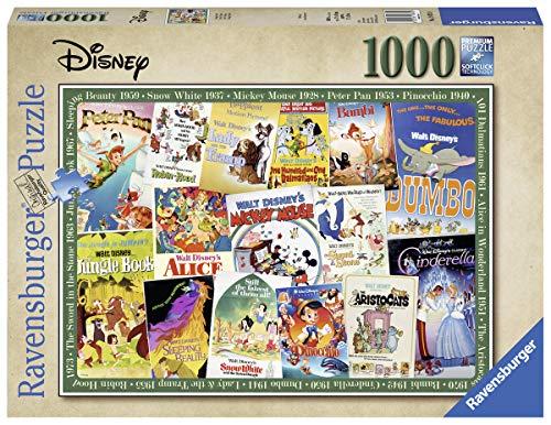 Ravensburger Puzzle 1000 Teile Disney Vintage Movie Poster, Disney Puzzle Für Erwachsene Und Kinder Ab 14 Jahren