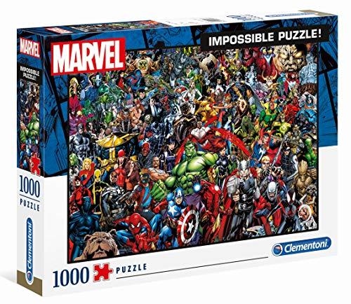Clementoni 39411 Marvel Universe – 1000 Teile, Impossible Puzzle, Geschicklichkeitsspiel für die ganze Familie, farbenfrohes Legespiel, Erwachsenenpuzzle ab 14 Jahren