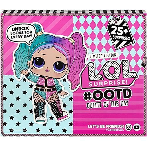 L.O.L. Surprise! 567168GR #OOTD Outfit of the Day Adventskalender inklusiv L.O.L. Surprise! Puppe und passenden Accessoires & Kleidungsstücken in jedem Türchen, 25 Überraschungen