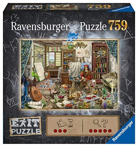 Ravensburger EXIT Puzzle 16782 - Künstleratelier - 759 Teile Puzzle für Erwachsene und Kinder ab 12 Jahren