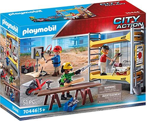 PLAYMOBIL City Action 70446 Baugerüst mit Handwerkern, Ab 5 Jahren