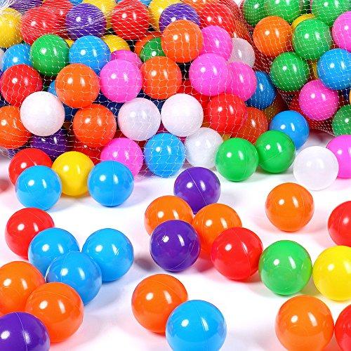 Schramm® 500 Stück Bälle für Bällebad 6cm Bälle für Kinder Bällebäder Babybälle Plastikbälle Ballpool Ohne Weichmacher 500er Pack