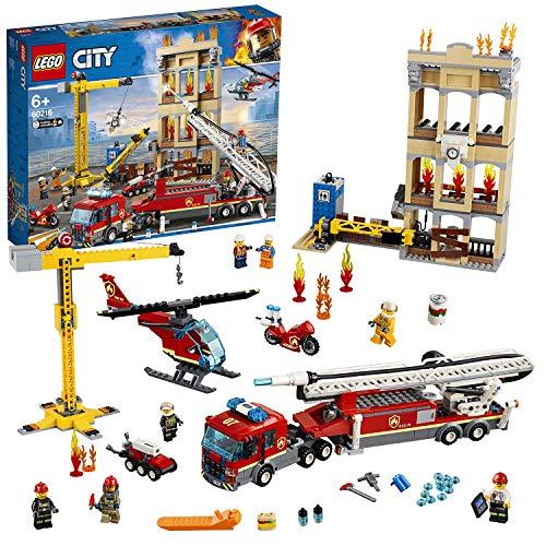 LEGO City 60216 Feuerwehr in der Stadt mit Feuerwehr-Minifiguren