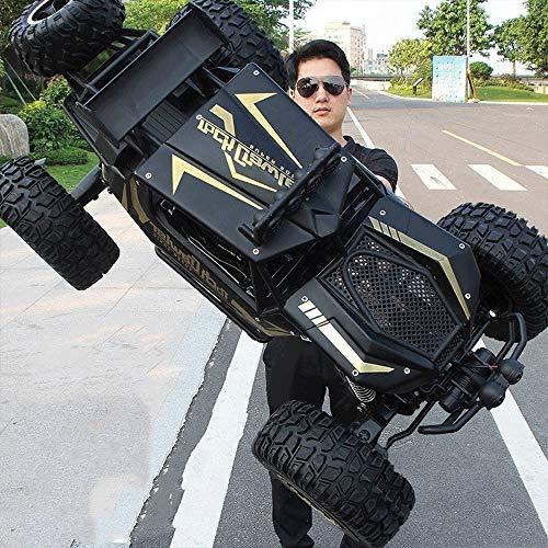 Tastak 4WD Off-Road Rock-Fahrzeug 2,4 GHz Fernbedienung Auto-Maxi-LKW-Spielzeug RC Car Im Freien Klettern Lade Rennwagen for Kinder und Erwachsene (Color : Schwarz)