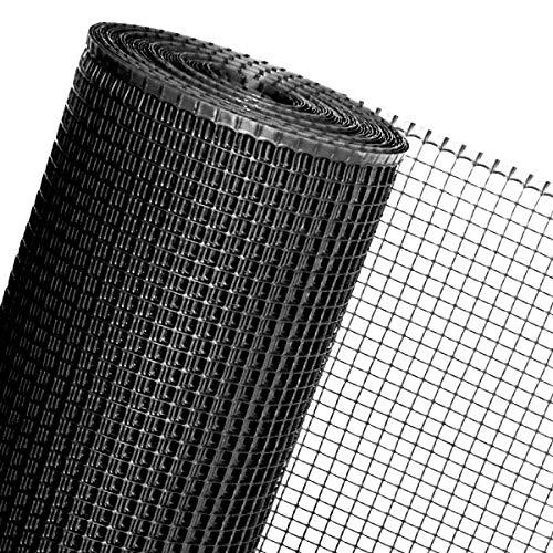HaGa® Maulwurfgitter - 1,2 m Breite - Meterware - Schwarz - Schutz vor Maulwürfen - 14 mm Maschenbreite