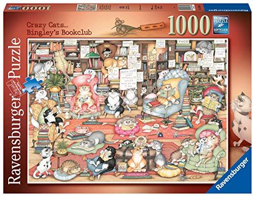 Ravensburger 16765 Crazy Cats Bingley's Bookclub Puzzle für Erwachsene und Kinder ab 12 Jahren