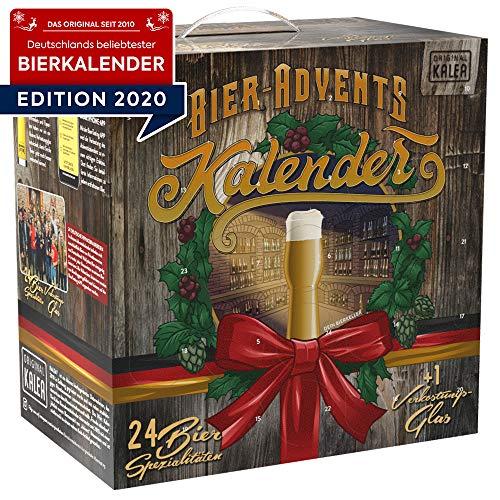 Bier-Adventskalender Edition Deutschland, neue Bestückung 2020, Deutsche Bierspezialitäten und 1 Verkostungsglas, 24 x 0.33 L Flaschen, Geschenkidee zur Vorweihnachtszeit für alle Bierliebhaber