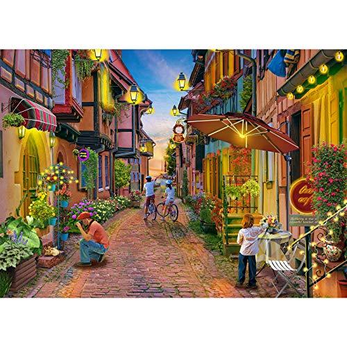 Puzzle 1000 Teile,Puzzle für Erwachsene, Impossible Puzzle,Puzzle farbenfrohes Legespiel,Geschicklichkeitsspiel für die ganze Familie,Erwachsenenpuzzle,Thema der romantischen Stadt