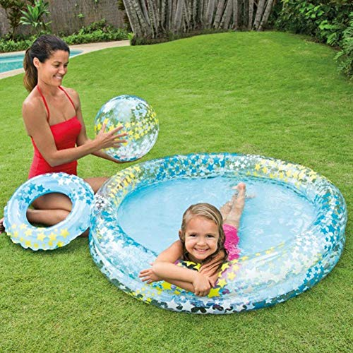 Aufblasbarer Pool, 3 STK. / Set Hochwertiges aufblasbares Kinder-Planschbecken Edualtional aufblasbarer Kinderpool Familien-Babypool