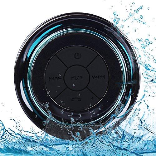 Bluetooth Duschlautsprecher, IP67 Wasserdichter Tragbarer Lautsprecher Dusch FM Radio mit Dedicated Saugnapf & Freisprecheinrichtung, Eingebauter Mic für Party, Garten, Indoor, Outdoor