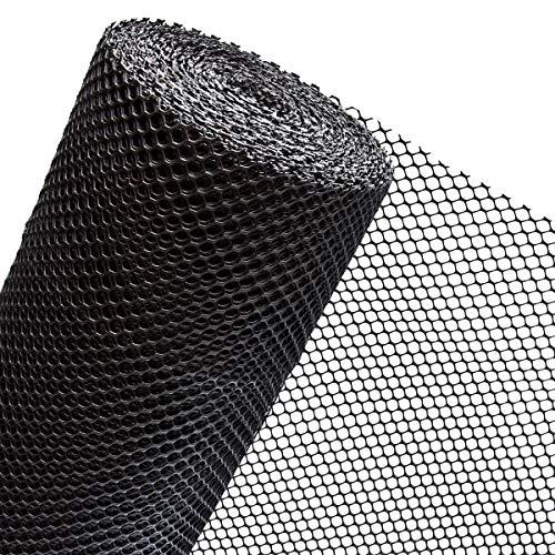 HaGa® Maulwurfschutz - 1 m Breite - Meterware - Schwarz - Schutz vor Maulwürfen - 15 mm Maschenbreite