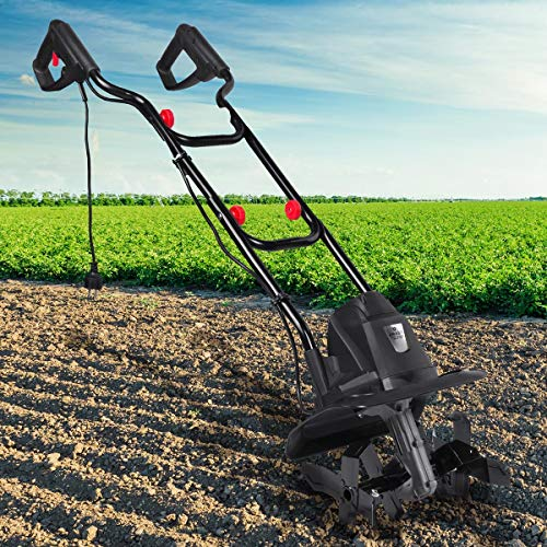 BRAST elektrische Motorhacke 1050 Watt 32cm Arbeitsbreite 16 Hackmesser Ackerfräse Kultivator Gartenfräse Elektro Hacke