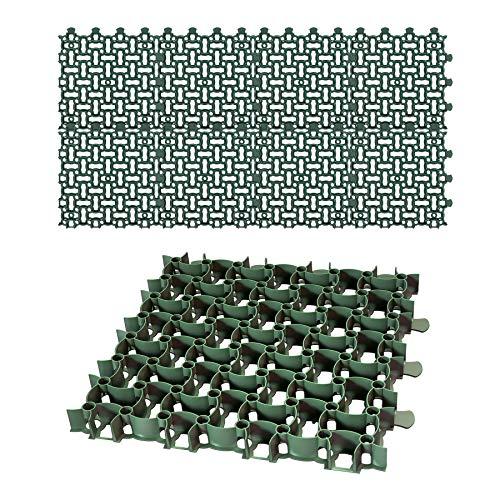 8x Rasengitter Paddockplatte 50x50 cm Reitplatzmatten Rasenmatten Rasenwaben Kiesgitter Parkplatzrasen 2 m²