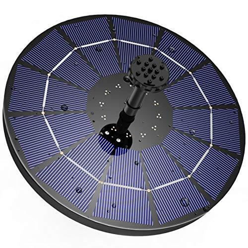 AISITIN Solar Springbrunnen mit 3.5W Solar Panel , Solar Teichpumpe Eingebaute 1500 mAh Batterie Wasserpumpe Solar Schwimmender Fontäne Pumpe mit 6 Fontänenstile für Garten, Vogel-Bad, Fisch-Behälter
