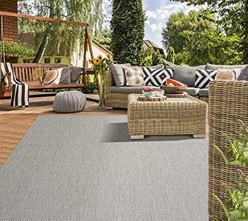 Mia´s Teppiche 'Lara' In- & Outdoor Teppich, Flachgewebt, 200x280 cm, Grau
