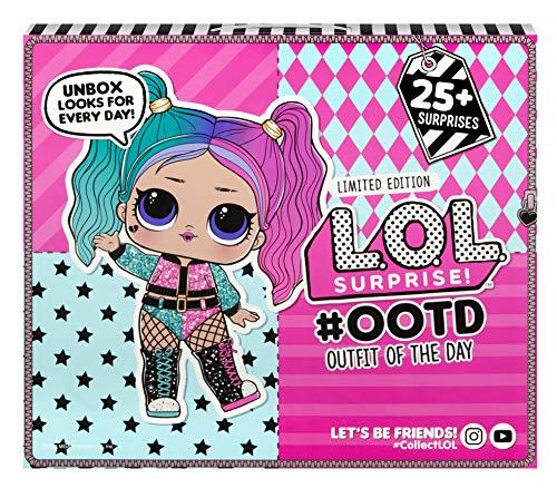 L.O.L. Surprise, OOTD 2020 – Adventskalender 25 Überraschungen, Davon 1 Exklusive Puppe 8 cm, Zubehör und Kleidung, Wasser-Überraschung, Spielzeug für Kinder ab 3 Jahren, LLUG6