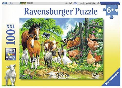 Ravensburger Kinderpuzzle 10689 - Versammlung der Tiere - 100 Teile