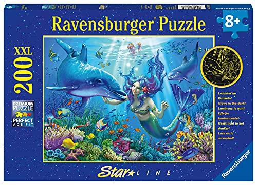 Ravensburger Kinderpuzzle - 13678 Leuchtendes Unterwasserparadies - Unterwasserwelt-Leuchtpuzzle für Kinder ab 8 Jahren, mit 200 Teilen im XXL-Format, Leuchtet im Dunkeln