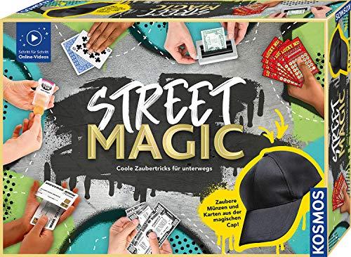 Kosmos 682002 Street Magic, Coole Zaubertricks für unterwegs, magische Zauberutensilien, 75 Tricks, Zaubern lernen, Zauberkasten für Einsteiger, Jugendliche und Kinder ab 8 Jahre, Online-Tutorials