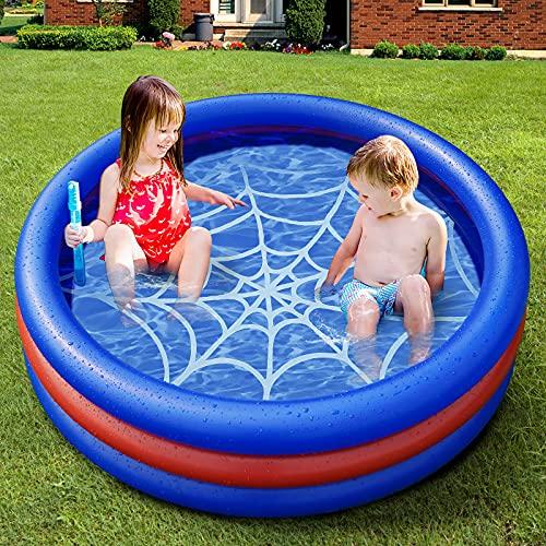Aufblasbares Planschbecken - Kinder Aufstellpool,onozio Schwimmbad Familienpool für den Garten(120x30cm)