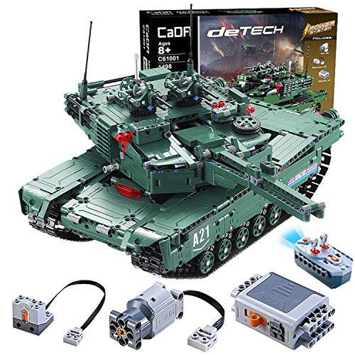 CELMAN M1A1 Abrams 2in1 RC Panzer Tank mit Schießen Kanone Militär Blocke 1498Teilen - Fernsteuerung