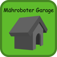 Mähroboter Garage Button